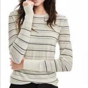 NWT Banana Republic merino wool striped sweater